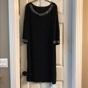 Black semi formal dress rhinestone decoration